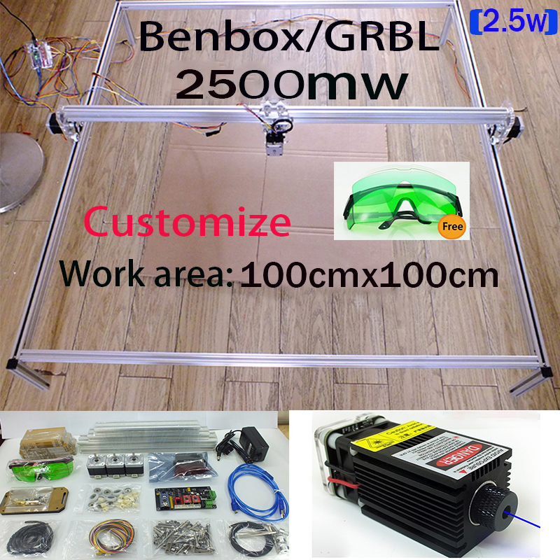 2.5W laser, large 100*100cm,2500MW big DIY laser engraving machine,diy marking machine ,diy laser engrave machine,advanced toys new 300 400mm 5500mw big diy laser engraving machine 5 5w diy marking machine diy laser engrave machine advanced toys