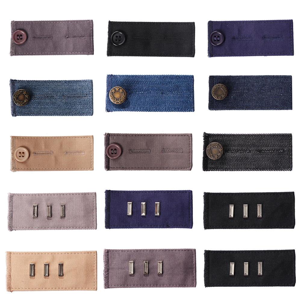 10Pcs Waist Band Extenders Trousers Skirts Expander No Sew Hook Button Hole
