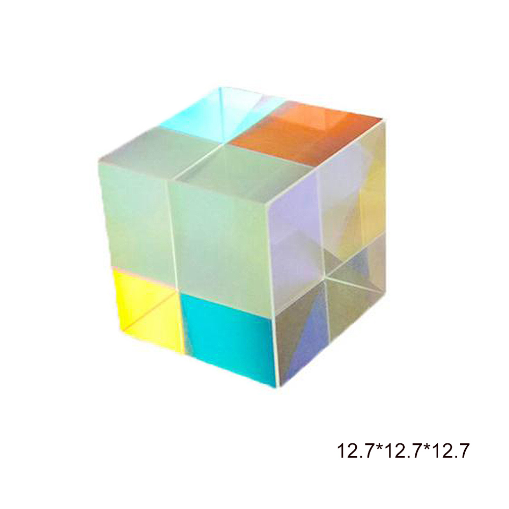 New Six-Sided Cube Stained Glass Splitting Prism Experiment Optical Lens Experiment Instrument