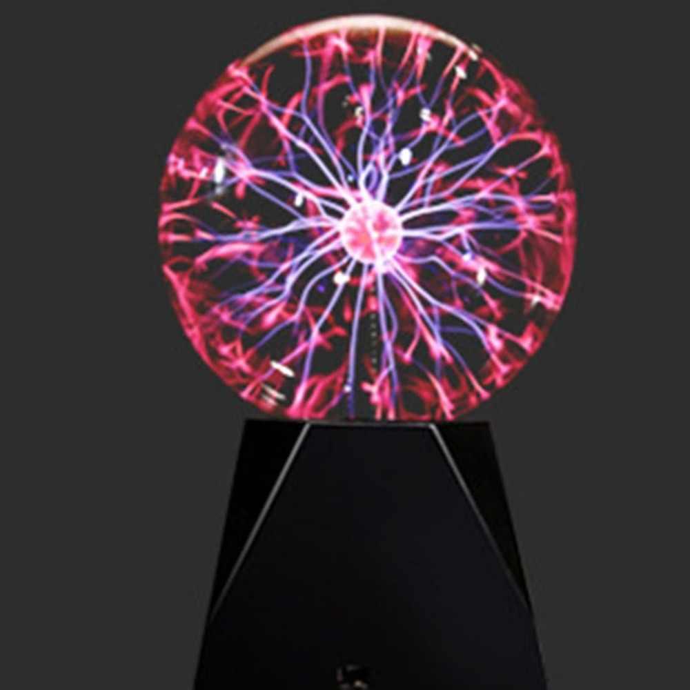 ICOCO Magic кристаллический Глобус настольные с usb-питанием плазменный шар Сфера светильник с молнией внутри прозрачный домашний вечерние шар ночника