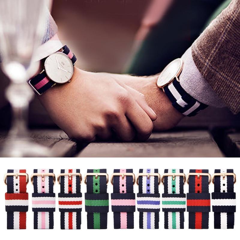 LEONIDAS Nato Nylon Watch Strap Watchbands Belt Metal Buckle Watchband Women Mens Cinta 13 14 17 18 19 20 Mm Relojes Hombre