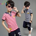 Boys Summer Clothing Sets Cotton Casual Children Sports Suits Kids Tracksuit Brand Party T-shirt Pants 2pcs Clothes For Boy C016
