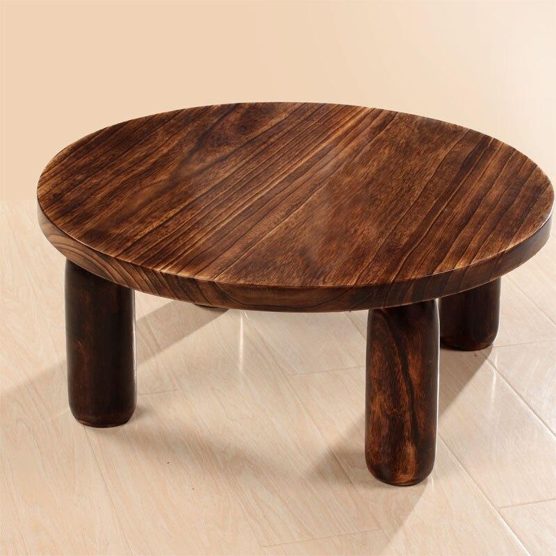 Burn Paulownia wood end table tatami floor small tea kang Coffee