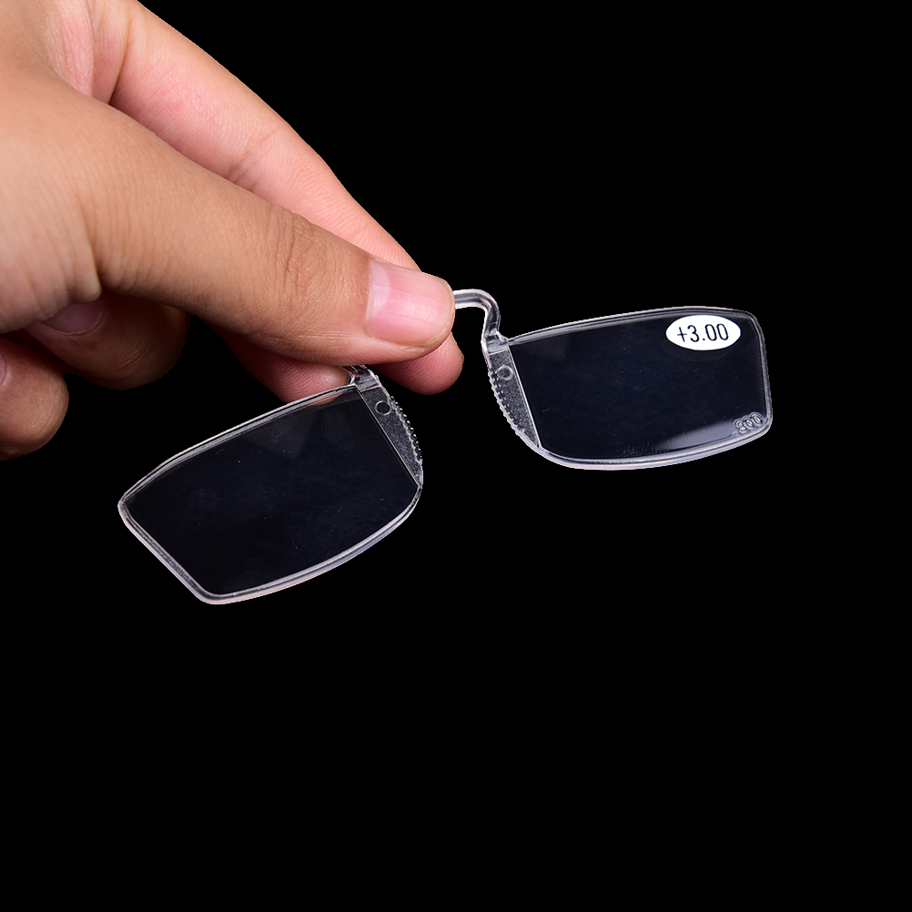 No Frame Clip On Nose Reading Glasses Older Mirror Nose Clip Mini Small Eyeglasses 1Pc +1 +1.5 +2 +2.5 +3