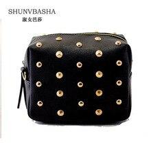 Women Shoulder Bags Fashion Ladies Pu Leather Messenger Bags Rivet Chain Trunk Sac A Main Female Tide Funny Crossbody Bags