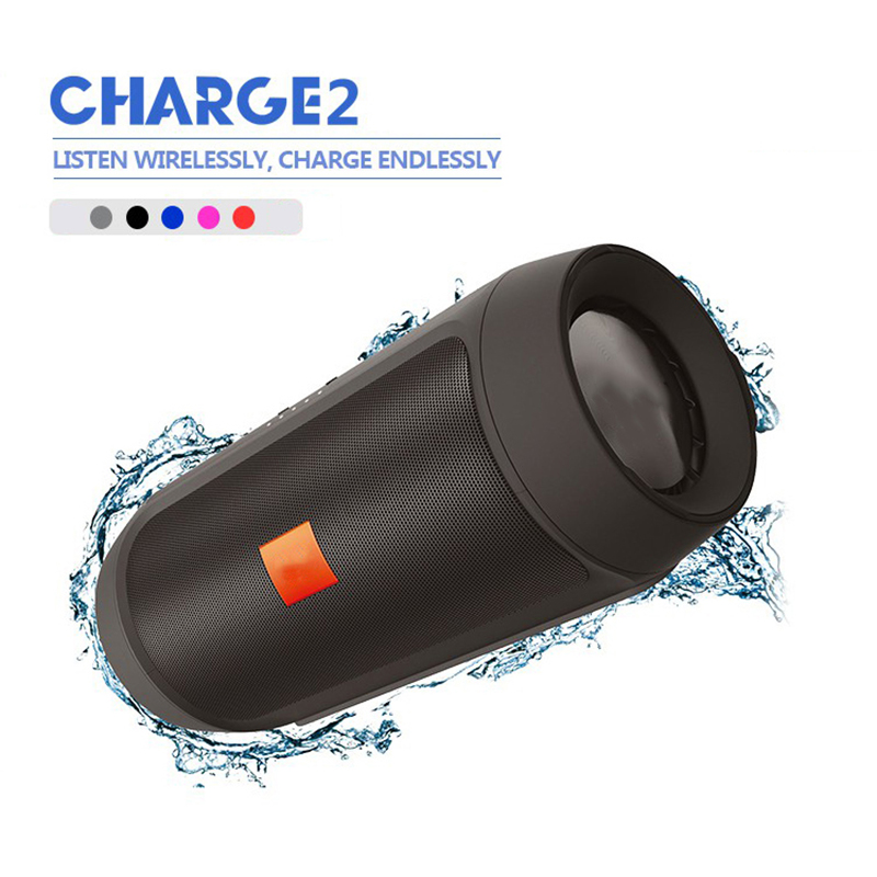 3.5mm Audio port Bluetooth Outdoor Speaker Bass Waterproof Portable Wireless Computer Speakers Column Loudspeaker Box with Mic