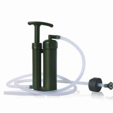 Festive Party Supplies Portable Outdoor Water Filter Purify Pump Outdoor Survival Hiking Camping House Moving Christmas gift #B