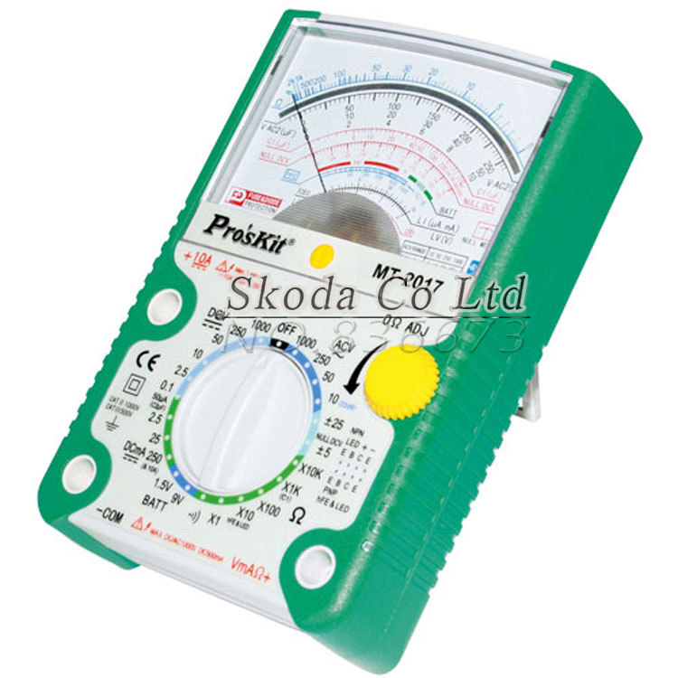 26 gear <font><b>Proskit</b></font> <font><b>MT</b></font>-<font><b>2017</b></font> AC/DC LCD Protective Function Analog Multimeter,Ohm Test Meter,Capacitance Measurement image