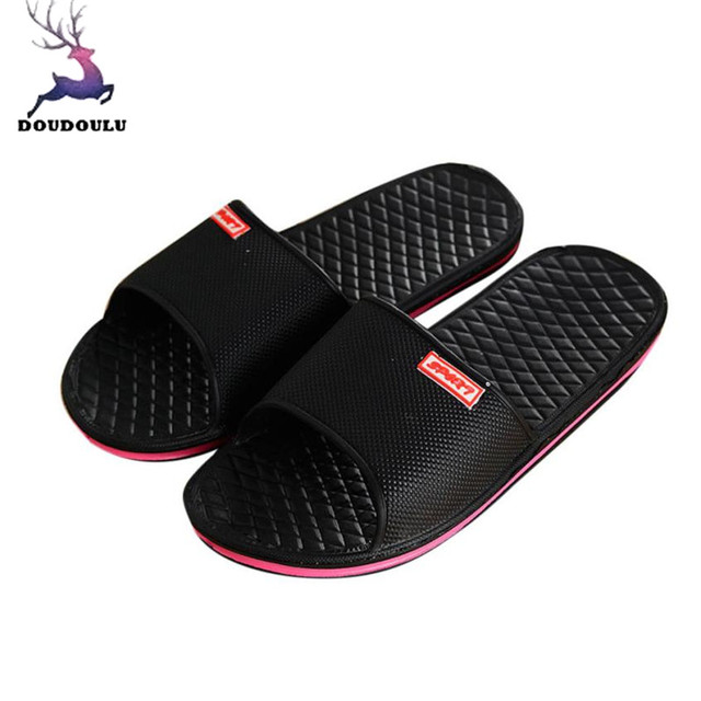 528be360a0ac Men Shoes Solid Flat Bath Slippers Summer Sandals Indoor   Outdoor Slippers  Casual Men Non-