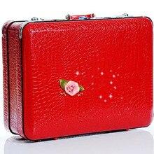 YISHIDUN Luggage Password  festive supplies Women and Men Travel Bags PU Organizer Hard Waterproof Code Lock suitcase bag