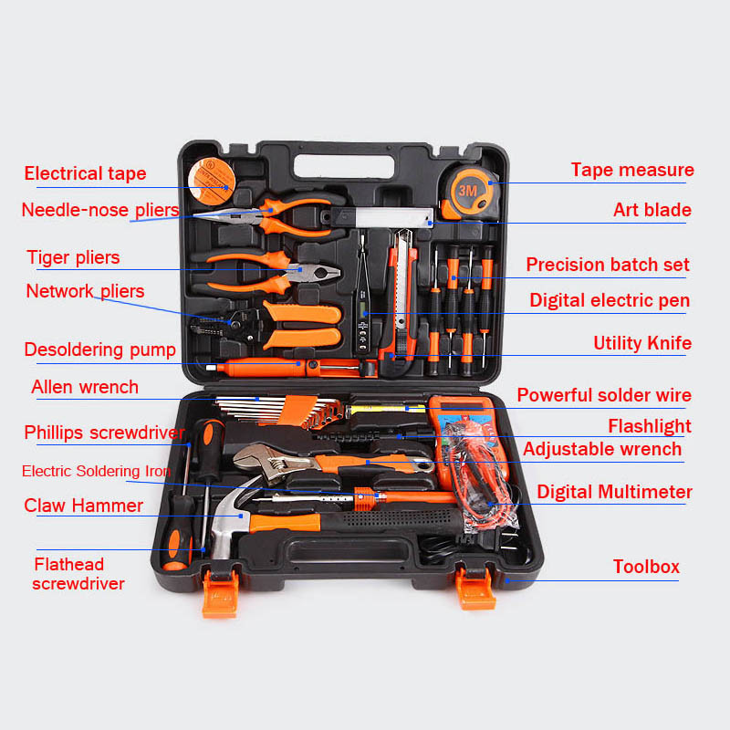 35pcs Combination electrician tool accessories repair hand tool box set Spanner household multi tool kit Herramientas DN155 (3)