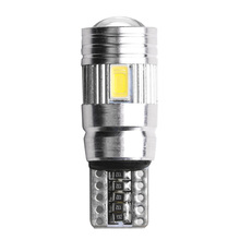 T10 W5W Car LED Turn Signal Bulb Canbus Error Free Interior Reading Light Wedge Side Parking Reverse Brake Lamp 5W5 5630 6smd youen ba9s 6smd 5630 led canbus lamps error free t4w car led bulbs interior lights car light source parking 12v white 8000k