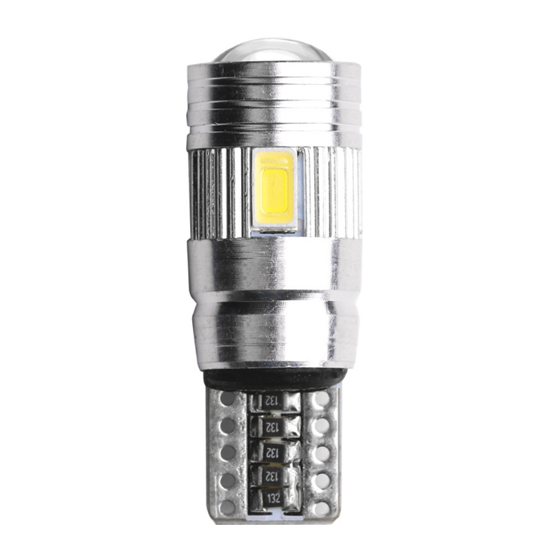 T10 W5W Car <font><b>LED</b></font> Turn Signal Bulb <font><b>Canbus</b></font> Error Free Interior Reading Light Wedge Side Parking Reverse Brake Lamp <font><b>5W5</b></font> 5630 6smd image