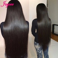 Jaycee Hair Peruvian Straight Hair Weaves 8 26INCH 100% Human Hair Extensions Non Remy Hair 1 Piece Can Be Mix Bundles Length