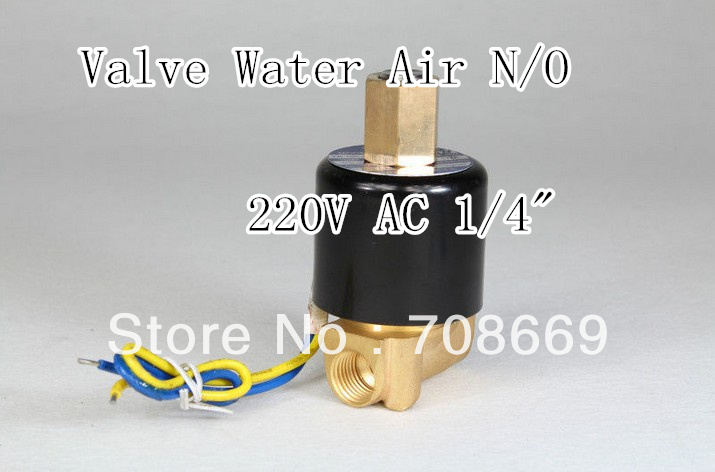 Electric Solenoid Valve Water Air N/O 220V AC 1/4