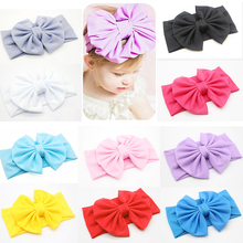 купить Child Hairband Turban Knot Head Wrap Baby Cute Stretch Bow Toddler Headband Girl онлайн