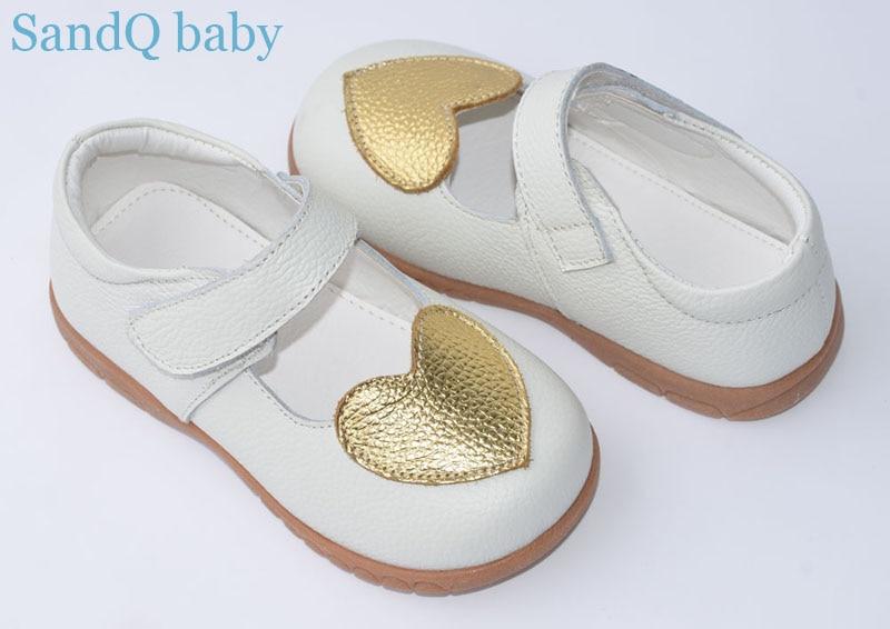 meiteņu kurpes īstas ādas melnā mary jane ar zelta sirds bērnu apaviem maziem bērniem kāzām christenning apavu baltu zapatos