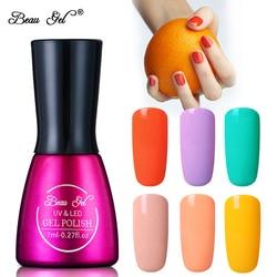 Beau Gel 20pcs/lot Macaron Color Gel Varnishes Semi Permanent Super Summer Candy Color Soak Off UV Nail Gel Polish For Nail Art