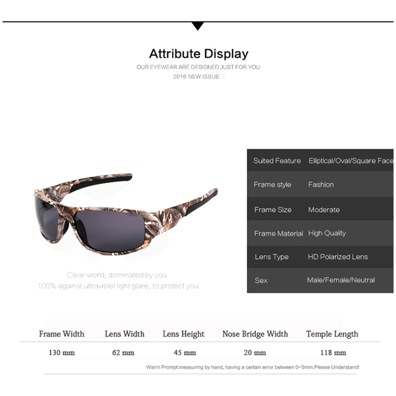 HomeMen s Clothing   AccessoriesAccessoriesBrand Designer Camouflage Frame Sunglasses  Men Women Sport fishing Driving Sun glasses. -18%. 🔍. Accessories ... 54f15c2c45