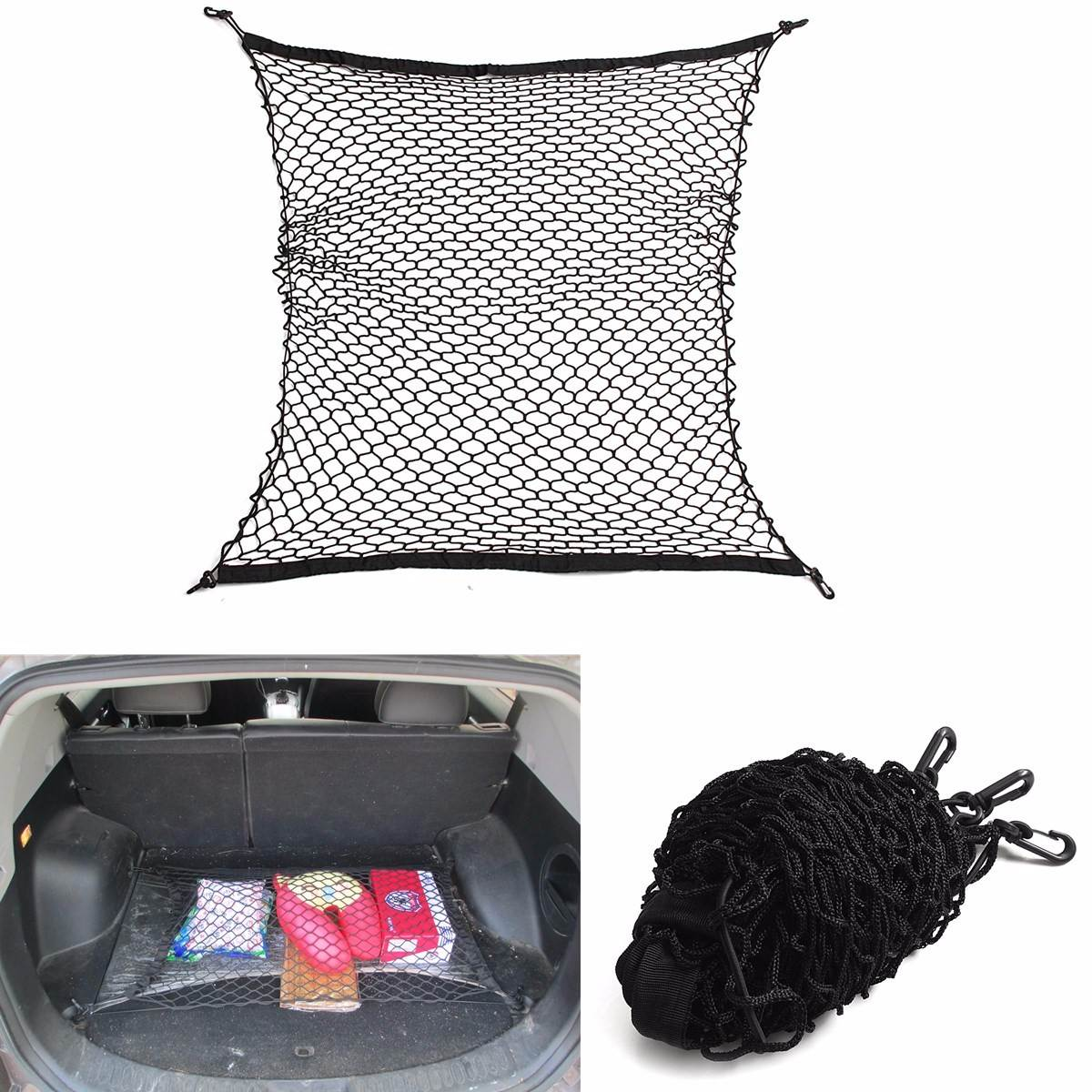 100x100cm Universal Car Seat Back Storage Mesh Net Rear Cargo Trunk Storage Organizer Luggage Swing Mesh Nets Holder airborne pollen allergy