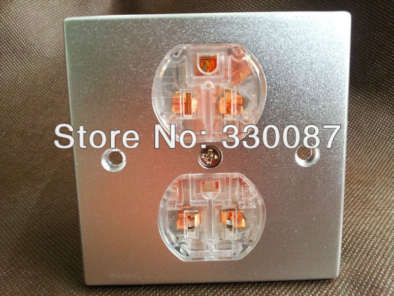Free shipping US AC 20A power Receptacles wall outlet audio grade red copper made socket viborg rbl d20a red copper rhodium plated ac 20a power receptacles wall outlet