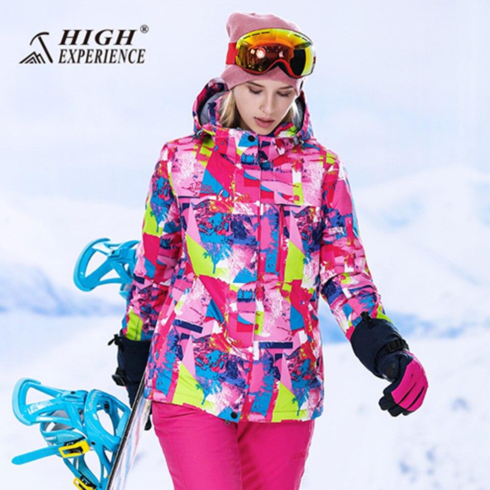 2018 sports d'hiver ski costume des femmes de neige costumes thermique snowboard veste pantalon chaud vêtements de ski veste de ski femme ski jas dames