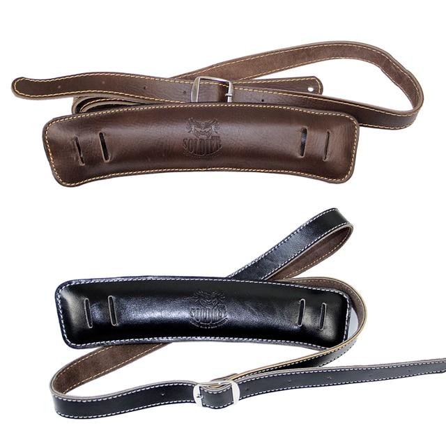 5e84eb7a65fa Solder Shoulder Padding Superior Leather Rockabilly Bass Belt up to 61