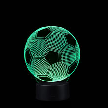 Football LED 3D Illuminated Lamp Optical Desk Night Light With 7 Color Changing 1.15(China)