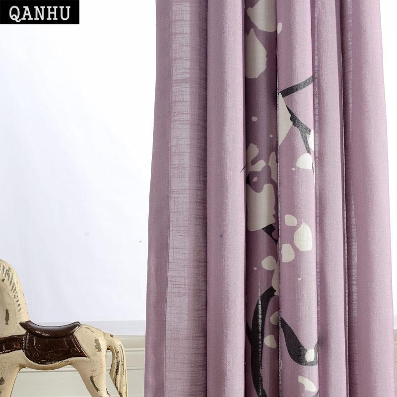Qanhu automne feuilles rideaux occultants pour chambre Polyester/coton Rideau confortable mis le Salon Salon Rideau