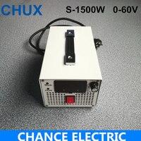 Ac/Dc источник Питание 1500 Вт 25A 0 ~ 60 В Регулируемый коммутации Питание трансформатор для Светодиодные ленты свет