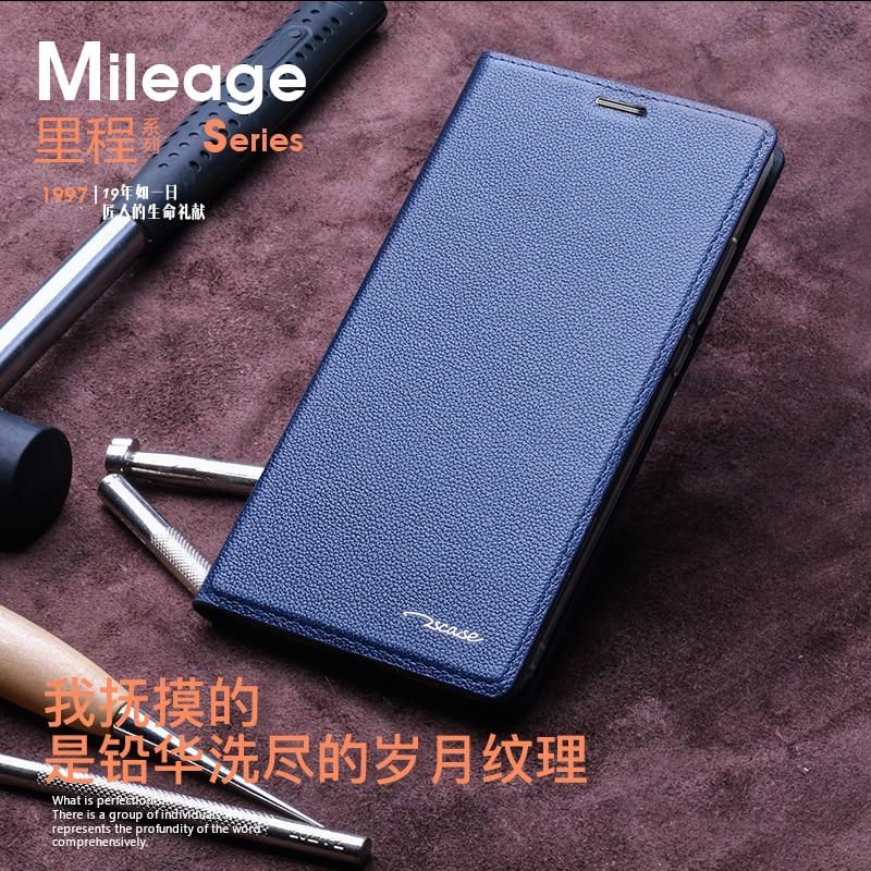 imágenes para Real Cubierta del Cuero Genuino para Huawei Honor 8 Pro 5.7 ''Teléfono caso la Función Del Soporte Piel de Vaca Natural Cierre Magnético para Huawei V9