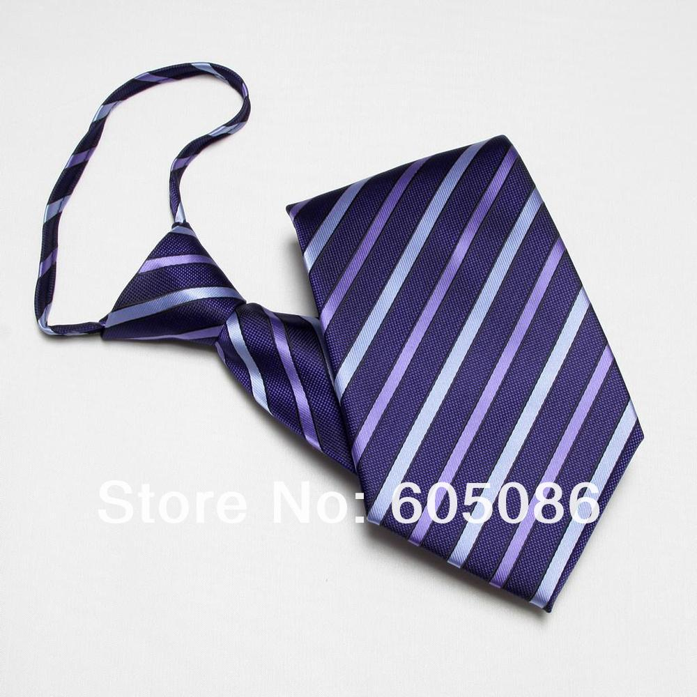 HOOYI 2018 fashion striped ties zipper handmade mens neck ties