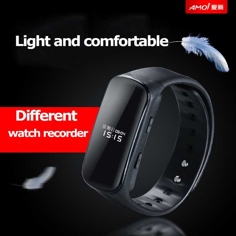 Digital Voice Recorder FäHig Yescool B70 Stimme Aktivieren Hd Digital Voice Recorder Uhr Verlustfreie Smart Armband Hifi Musik Player Stealth Audio Diktiergerät Reine WeißE Tragbares Audio & Video