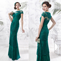 Latest Design Lace Mother of the Bride Long Evening Dress Lady Formal Gowns Elegant vestidos de madrina de madres novia VL14