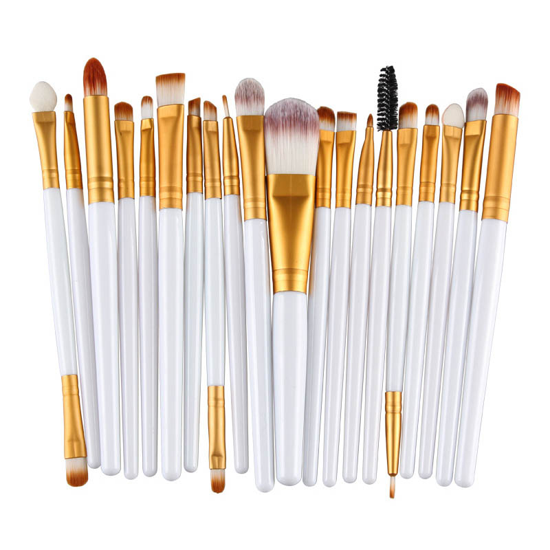 20Pcs Cosmetic Makeup Brushes Set Powder Foundation Eyeshadow Eyeliner Lip Brush Tool Brand Make Up Brushes Beauty Tools Pincel lcbox professional 40pcs cosmetic makeup brushes set blusher eyeshadow powder foundation eyebrow lip make up brush with bag