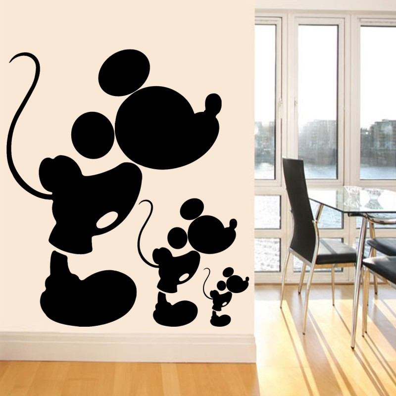 Cute Vinyl Wall Decal Black Mickey Mouse Wall Stickers For Baby Room  Nursery Wall Sticker Home. Popular Mickey Mouse Wall Stickers Buy Cheap Mickey Mouse Wall