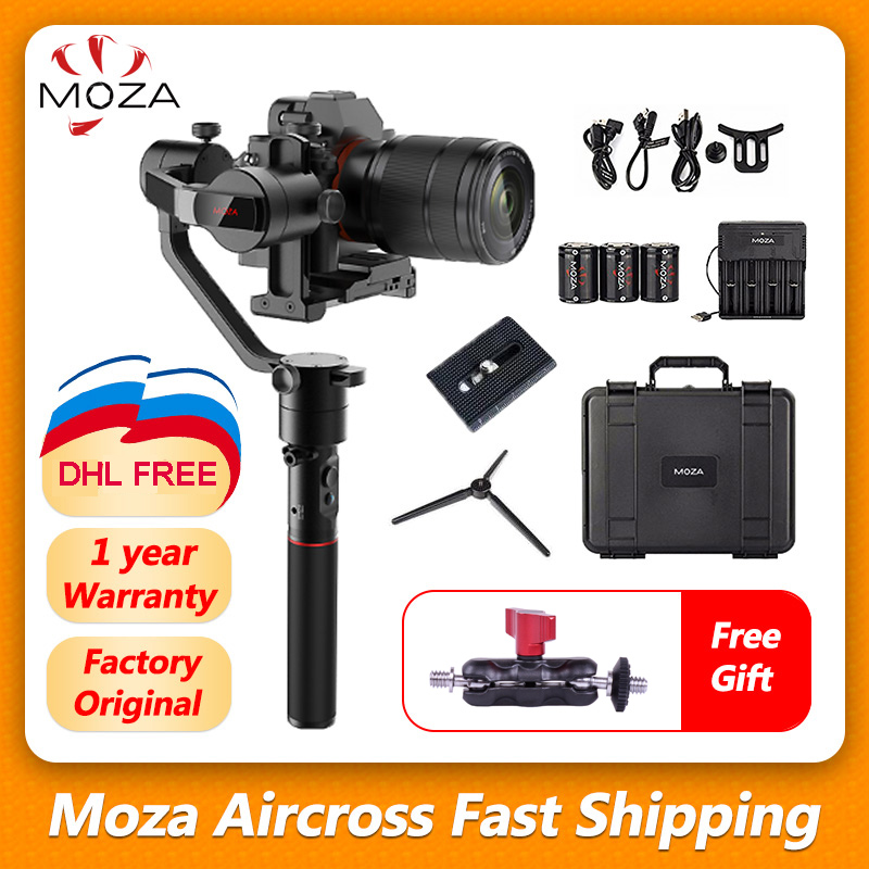 MOZA Aircross Handheld Gimbal Stabilizer steadicam For Mirrorless Camera up to 1 8kg for Sony A6000