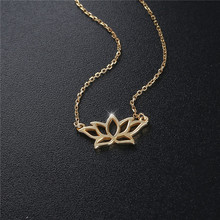 2019 new fashion womens necklace 925 sterling silver lotus flower charm pendant gold plated  necklaces
