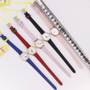 Image 5 - מיני קטן נשים של שעון יפן קוורץ שעות אופנה שעון גברת עור צמיד ערבית מספר של הילדה יום הולדת מתנת יוליוס תיבה