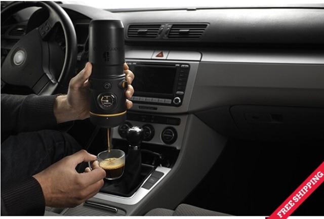 Free Shipping 12v Car Coffee Maker Machine Espresso Handpresso Auto