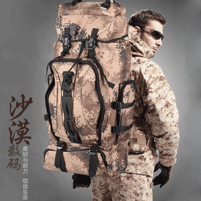 2018 70L extérieur sac d'alpinisme armée Fans équipé Camping sac à dos Sports de plein air sac à dos
