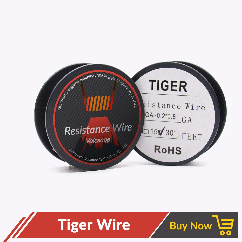 Volcanee 5m/roll Tiger Clapton Wire Heating Coil Wire 24 26GA ...