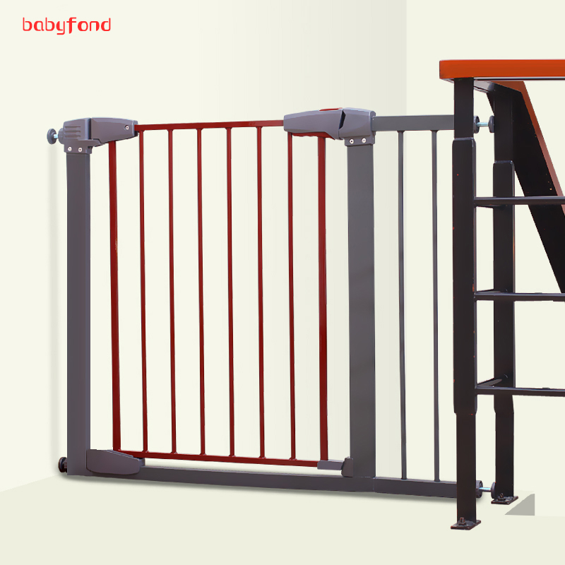 Door Stop 76-83cm Good Quality Baby Safety Gate Stair Pet Separate Solid Color Iron Material Can Add Expannel ...