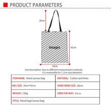 Afro Print Canvas Reusable Shopping Bag