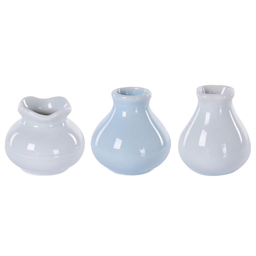 Modern Minimalist Style Desktop Ceramic Flower Vase White