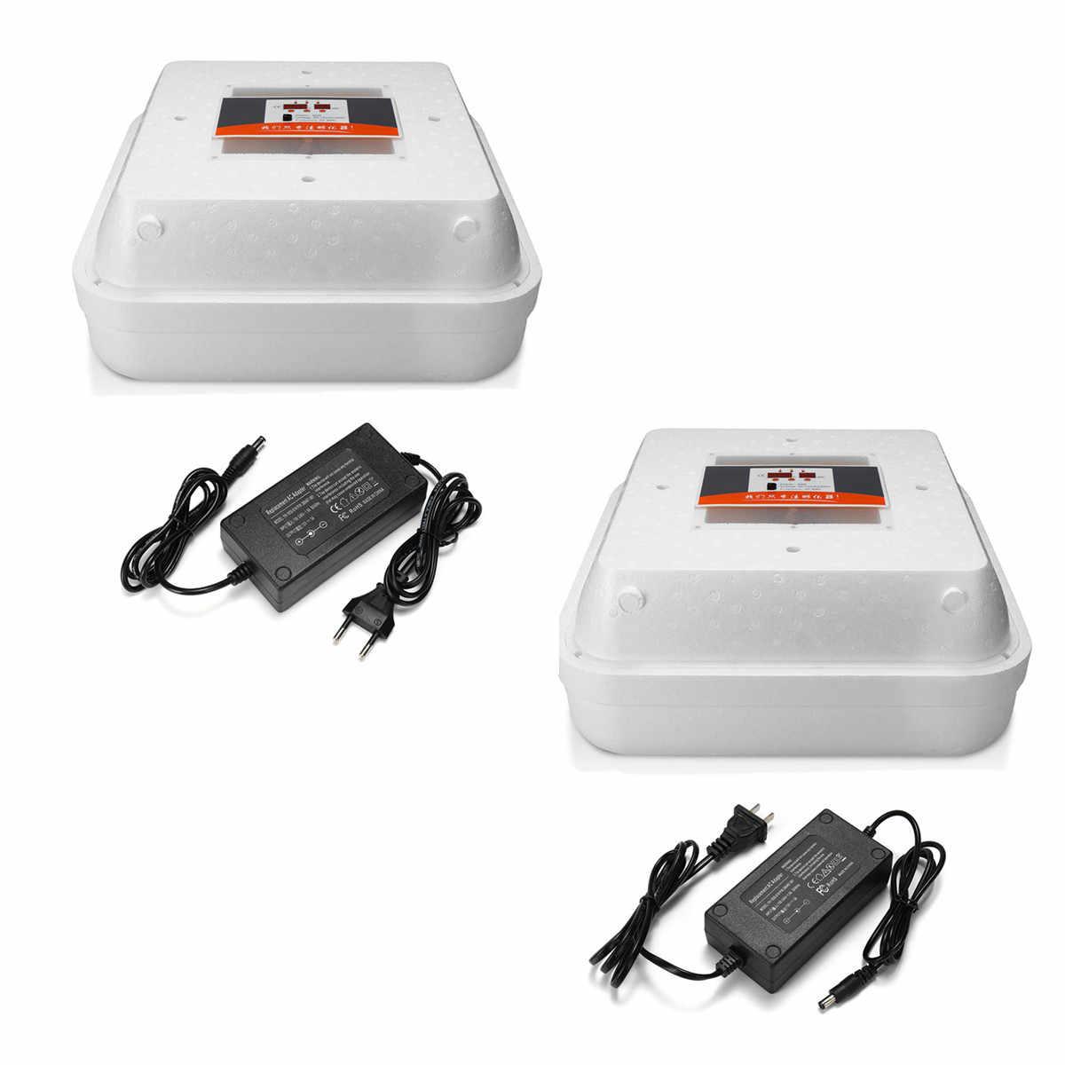 Автоматическое Оборудование Для Сбора Яиц 55 яиц инкубатор полностью светодиодный Тернер куриный утка цифровой дисплей умный чувствительный США/ЕС штекер