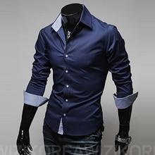 mens casual shirt fashion new designer slim fit long sleeve classic shi