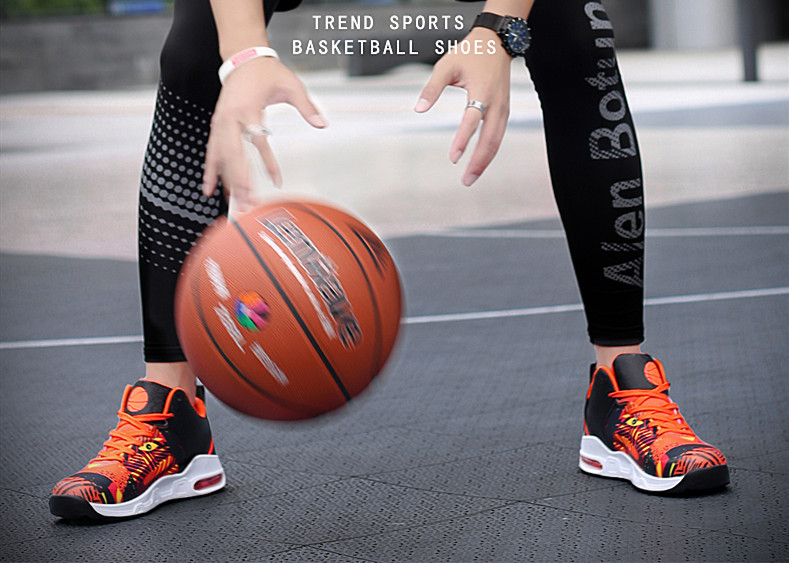 Plus Size 35-46 Sport Fashion Sneakers Women Breathable Geometric Basket Female Men's Casual Shoes Air Cushion Sneakers NX013 (2)