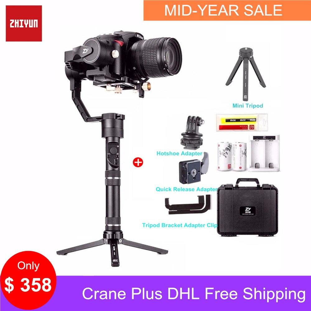 Zhiyun Guindaste Mais 3 Eixo Cardan Handheld Estabilizador 2.5 KG de Carga para Sony Panasonic Canon Nikon Fujifilm Câmera Dsrls 5.5lb