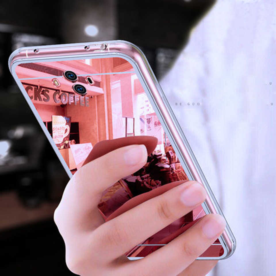 Mirror Glitter Cover For Huawei Mate 10 Lite P20 Pro P10 P9 P8 2017 Honor 6A 7A 6X 7X 8 9 Y3 Y5 Y6 II Y7 Prime Y9 2018 TPU Cases